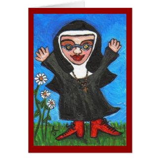 Nonne géniale heureuse de Preachin - carte