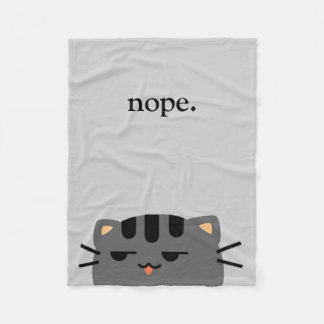Nope Kitty Couverture Polaire