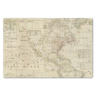 Nord composé et l'Amérique du Sud Papier Mousseline