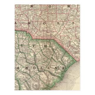 Nord et Caroline du Sud 3 Cartes Postales
