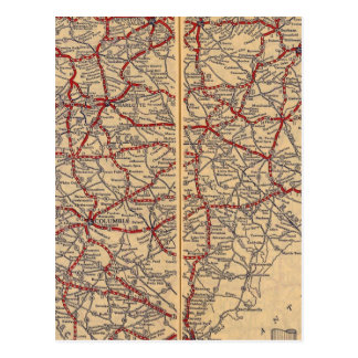Nord et Caroline du Sud 4 Carte Postale