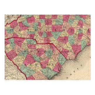 Nord et Caroline du Sud Carte Postale