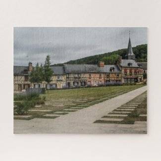 Normandy France Jigsaw Puzzle - Le Bec Hellouin