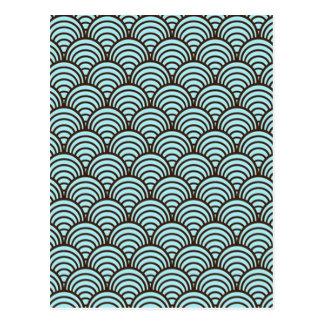 norme dans forme géométrique carte postale