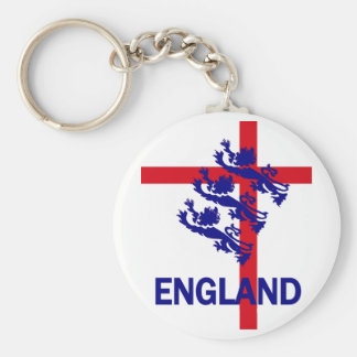 Norme de l'Angleterre et croix royales de St Georg Porte-clé Rond