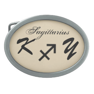 Norme de symbole de zodiaque de Sagittaire par K Boucles De Ceinture Ovales
