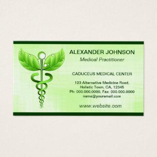Norme verte de lumière de médecine douce de cartes de visite