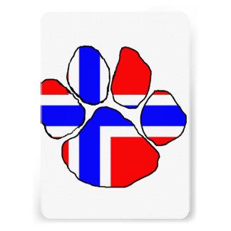 Norvège-drapeau paw png invitations personnalisées