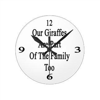 Nos girafes font partie de la famille aussi horloge