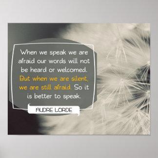 Nos mots par Audre Lorde Poster