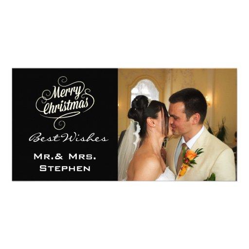 Nos premiers cartes photos de mariage de Noël, Carte Avec Photo