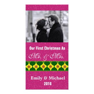 Nos premiers cartes photos de mariage de Noël Cartes Avec Photo