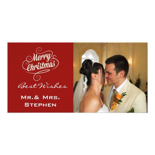 Nos premiers cartes photos de mariage de Noël, Cartes Avec Photo