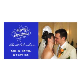 Nos premiers cartes photos de mariage de Noël Photocarte Personnalisée