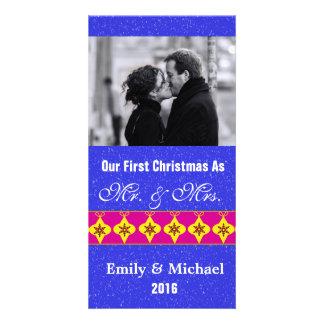 Nos premiers cartes photos de mariage de Noël Carte Avec Photo