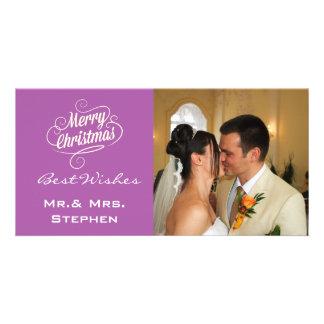 Nos premiers cartes photos de mariage de Noël Modèle Pour Photocarte