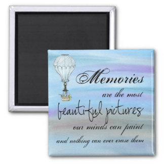 Nos souvenirs aimant de carré de 2 pouces