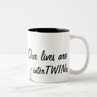 Nos vies sont entrelacées tasse 2 couleurs