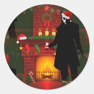 nosferatu de Noël Sticker Rond