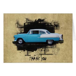 Note 1955 classique de Merci de voitures d'Air de Cartes