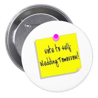 Note à l individu épousant demain - customisé badge