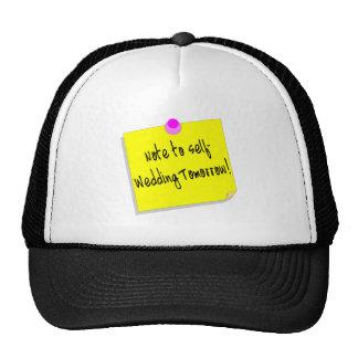 Note à l'individu, épousant demain casquette