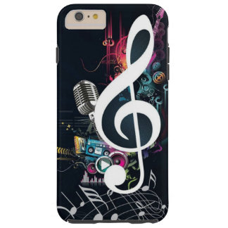Note abstraite et microphone de fissure coque iPhone 6 plus tough