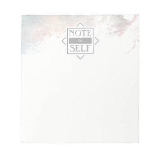 Note d'aquarelle au bloc - notes de l'individu | bloc-note