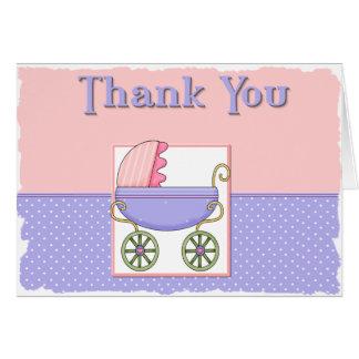 Note de Merci de baby shower Cartes