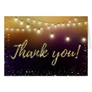 Note de Merci de lumières et d'étoiles Cartes De Vœux
