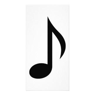 Note de musique photocarte