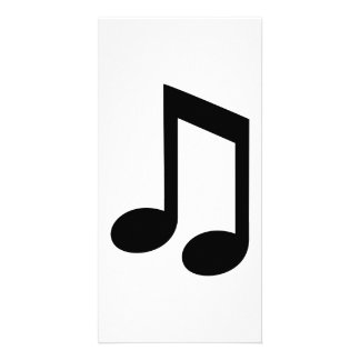 Note de musique cartes de vœux avec photo