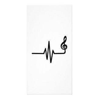 Note de musique de fréquence carte avec photo