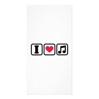 Note de musique du coeur I Photocartes Personnalisées