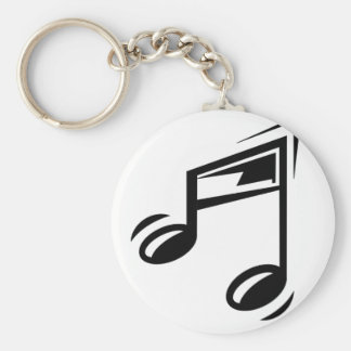 Note de musique porte-clé rond