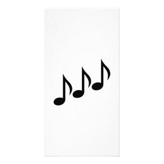 Note la musique cartes avec photo