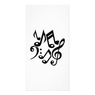 Note la musique classique photocarte personnalisée