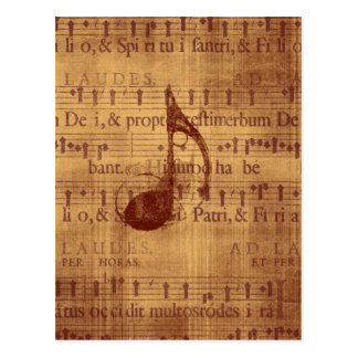 Note musicale carte postale