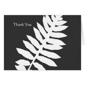Note noire et blanche de Merci d'affaires de Cartes De Vœux