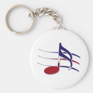 Note patriotique de musique porte-clés