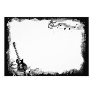 Note plate géniale de Merci de guitare électrique Carton D'invitation