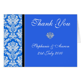 Notes bleues de Merci de mariage Carte De Correspondance