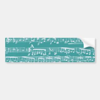 Notes bleues de musique d'Aqua Adhésif Pour Voiture
