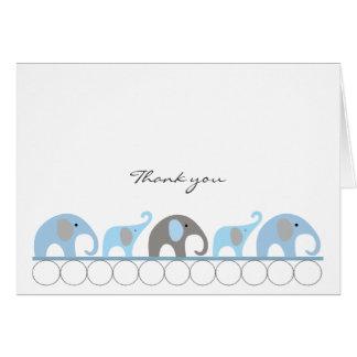 Notes bleues et grises de Merci d'éléphant de baby