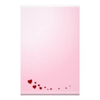 Notes d'amour papier à lettre customisable