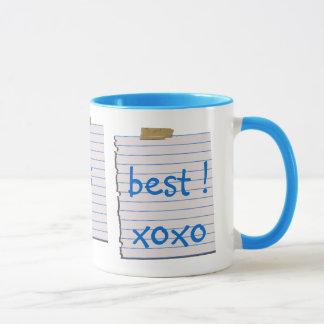 Notes d'amour pour la tasse de papa