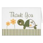 Notes de cartes de Merci de baby shower de tortue