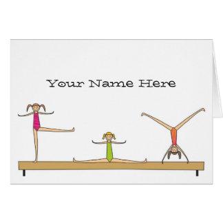 Notes de gymnastique cartes de vœux