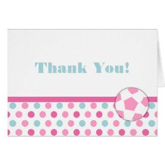 Notes de Merci d'anniversaire de fille du football