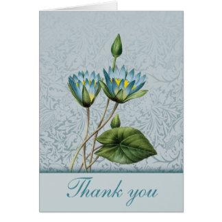 Notes de Merci de Lotus bleu Cartes De Vœux